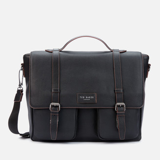Ted Baker Men's Finlie Leather Satchel Bag - Black