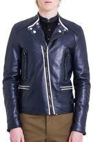 Lanvin Matte Leather Biker Jacket