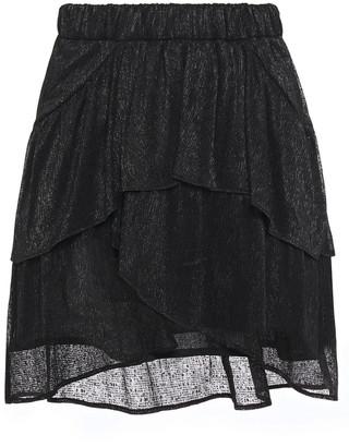 IRO Huge Tiered Metallic Gauze Mini Skirt