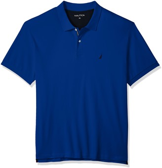 Nautica Men's Tall Classic Short Sleeve Solid Deck Polo Shirt