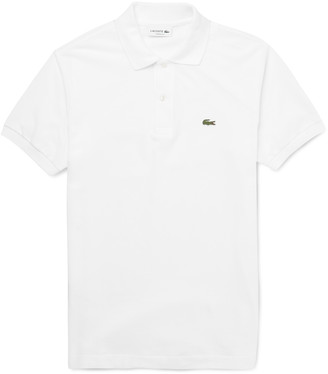 Lacoste Logo-Appliqued Cotton-Pique Polo Shirt