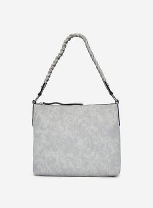 Dorothy Perkins Womens Grey Plait Handle Hobo Bag, Grey