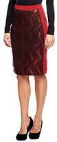 Bob Mackie As Is Bob Mackie's Elastic Waist Knee Length Sequin Skirt