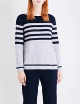 St. John Striped cashmere jumper