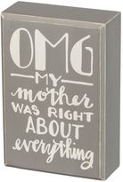 """My Mother Was Right"" Box Sign Art"