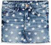 H&M Patterned Denim Skirt