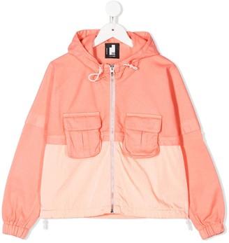 Cinzia Araia Kids Two Tone Hooded Jacket
