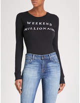 Wildfox Couture Weekend Millionaire cotton-jersey body