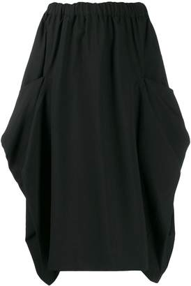 Comme des Garcons elasticated waist midi skirt