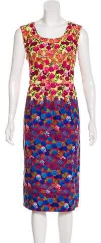 Marc Jacobs Floral Midi Dress