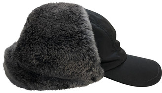 Prada Black Faux fur Hats & pull on hats