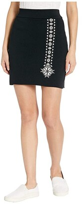 Dale of Norway Geilo Skirt (Black/Off-White) Women's Skirt