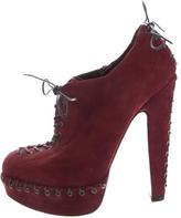 Alaia Platform Lace-Up Booties