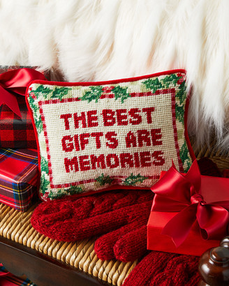 The Best Gifts Are Memories Needlepoint Pillow