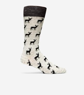 Cole Haan Deer Print Dress Socks