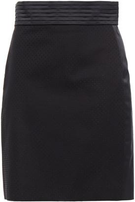 Just Cavalli Satin-trimmed Swiss Dot-twill Mini Skirt