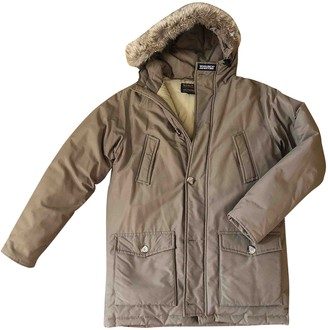 Woolrich Khaki Cotton Coat for Women
