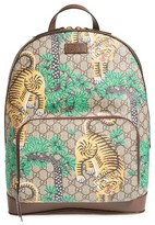 Gucci Men's Tiger Cub Supreme Canvas Backpack - Beige
