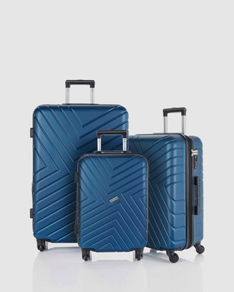 Jett Black Midnight Maze Series Luggage Set