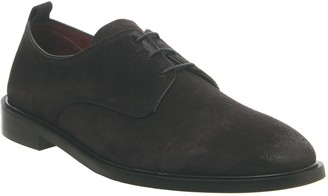 Poste Lucas Derby Shoes Navy Suede