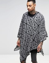 Religion Knitted Aztec Festival Poncho
