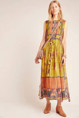 Bhanuni By Jyoti Citron Embroidered Maxi Dress