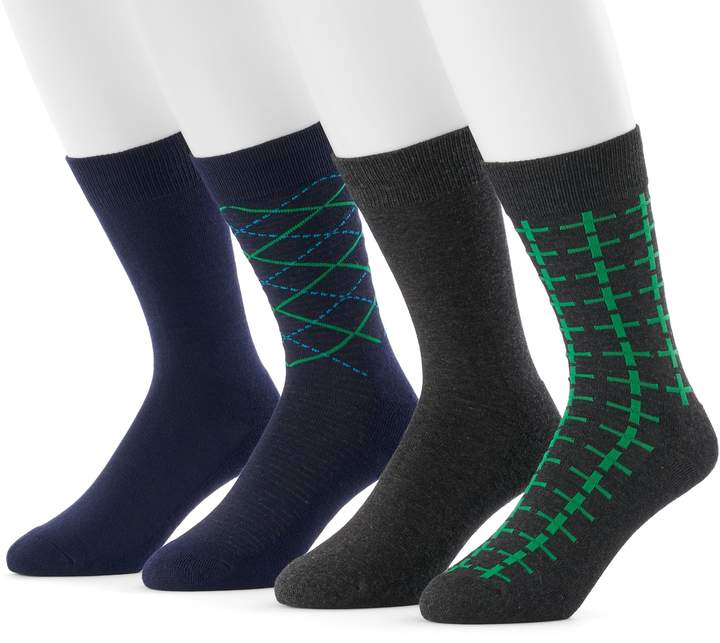 Hanes Men's 4-pack Fresh IQ Crew Socks