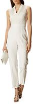 Karen Millen Fluid Tailoring Jumpsuit, Ivory