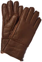 Surell Accessories Pieced Leather Gloves