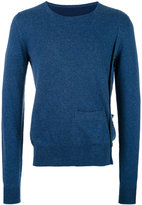 Maison Margiela side button crew neck sweater - men - Cotton/Wool - S