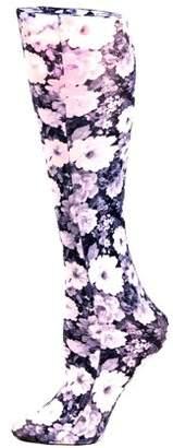 Celeste Stein Therapeutic Compression Socks, 15-20 mmHg, Noir Roses