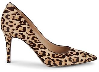 Sam Edelman Margie Leopard Calf-Hair Pumps