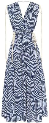 Lee Mathews Exclusive to Mytheresa Ada printed cotton midi dress
