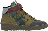Valentino MEN'S ROCKSTUD HIGH-TOP SNEAKERS-DARK GREEN SIZE 9 M