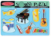 Melissa & Doug NEW Musical Instruments Sound Puzzle 8pce