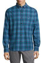 Michael Bastian Casual Button-Down Plaid Cotton Shirt