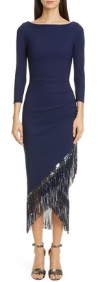 Chiara Boni Pacoshy Sequin Fringe Dress