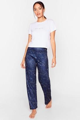 Nasty Gal Womens Star-t of Something Rad Petite trousers Pajama Set - Navy - 4, Navy