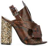 No.21 snakeskin effect sandals