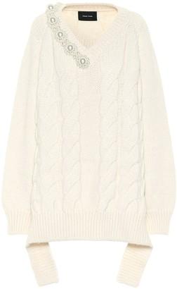 Simone Rocha Embellished alpaca-blend oversized sweater
