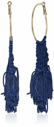 Panacea Women's Navy Woven Hoop Drop Earrings One Size