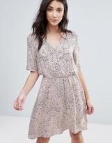 Vila Printed Wrap Over Dress