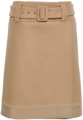 Prada Appliqued Wool-felt Wrap Skirt