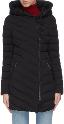 Mackage 'Nadine' asymmetric zip hooded puffer jacket