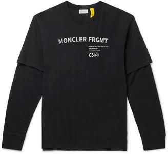 MONCLER GENIUS 7 Moncler Fragment Hiroshi Fujiwara Layered Printed Cotton-Jersey T-Shirt