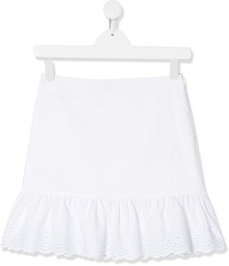 Philosophy Di Lorenzo Serafini Kids TEEN embroidered frill-trim skirt