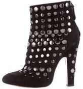 Alaia Stud-Embellished Suede Ankle Boots
