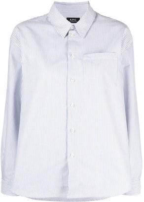 A.P.C. Stripe-Print Cotton Shirt