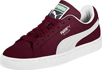 Puma Suede Classic+, Unisex Adults Low-Top Trainers, Red (Burgundy/White 75), (42.5 EU)