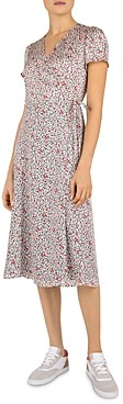 Gerard Darel Sara Floral Print Wrap Dress